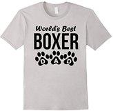 Men's World's Best Boxer Dad Paw Prints T-Shirt XL