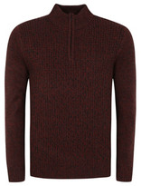 George Chunky Knit Zip-Neck Fisherman Jumper
