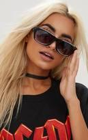 PrettyLittleThing Black Wide Cat Eye Retro Sunglasses
