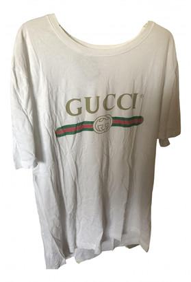 Gucci White Cotton T-shirts