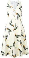 Cacharel pineapple print flared dress - women - Cotton - 34