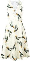 Cacharel pineapple print flared dress