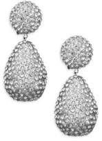 Kenneth Jay Lane Dome Top Crystal Drop Earrings