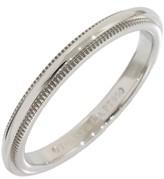 Tiffany & Co. Platinum Milgrain Wedding Band Ring Size 4.5