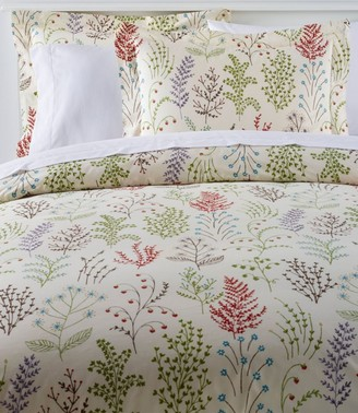 L.L. Bean Botanical Floral Percale Comforter Cover Collection