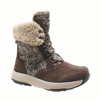 AdTec Women's Microfleece Lace Winter Boot Brown