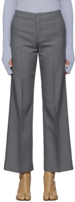 Maison Margiela Grey Houndstooth Trousers