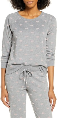 PJ Salvage Lip Print Pajama Top