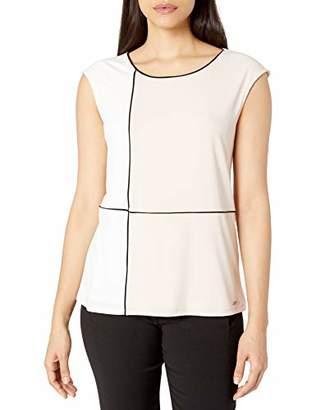 Calvin Klein Women's Sleeveless Colorblock TOP