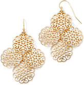 Liz Claiborne Gold-Tone Chandelier Earrings