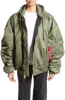 Vetements Women's Oversized Reversible Bomber Jacket