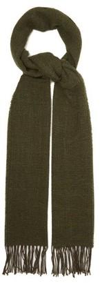 Raey Mesh Wool-blend Scarf - Khaki