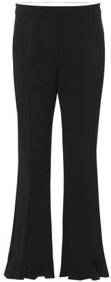 Stella McCartney High-rise flared stretch-wool pants