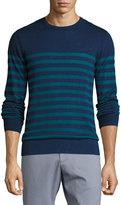 Original Penguin Striped Cotton Sweater, Dark Blue