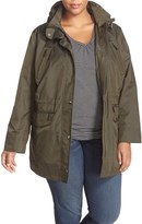 MICHAEL Michael Kors Plus Size Women's Water Repellent Hooded Anorak