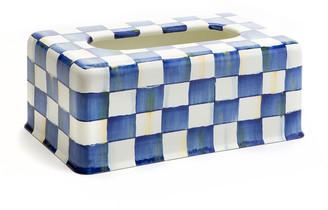 Mackenzie Childs Royal Check Standard Tissue Box Cover