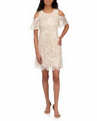 Ronni Nicole Women's Cold Shoulder Vintage Lace Shift