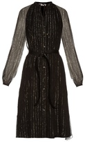 Altuzarra Lela striped silk-blend chiffon dress