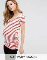 Isabella Oliver Striped Cap Scoop Top