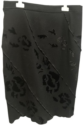 Ermanno Scervino Black Wool Skirt for Women
