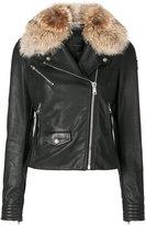 Belstaff Wallington jacket - women - Cotton/Leather/Viscose/Coyote Fur - 36