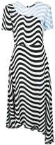 House of Holland asymmetric hypnotic dress