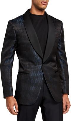 Ermenegildo Zegna Men's Textured Satin Shawl-Lapel Dinner Jacket