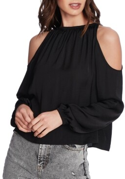 1 STATE Cold-Shoulder Top