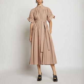 Proenza Schouler Pleated Poplin Belted Dress
