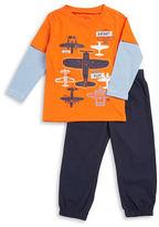 Kids Headquarters Boys 2-7 Airplane-Print Shirt and Pants Set