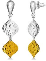 Gurhan Clove Earring in Sterling Silver Layered with 24ct Gold