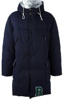 Raf Simons high neck padded coat - men - Cotton/Polyester/Duck Feathers - 46