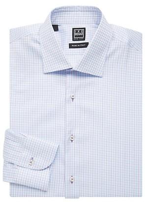 Ike By Ike Behar Regular-Fit Checkered Cotton Dress Shirt