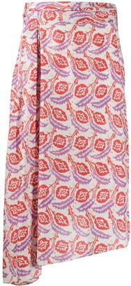 Isabel Marant Javenia leaf-print skirt