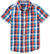 Lucky Brand Little Boys 4-7 Plaid Short-Sleeve Poplin Shirt