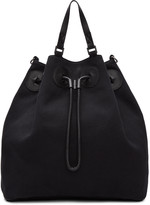 Maison Margiela Black Canvas Bucket Backpack