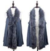 StylesILove.com StylesILove Faux Fur Collar Winter Womens Sweater Knit Vest