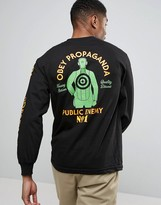Obey Long Sleeve Tee With Target Back Print