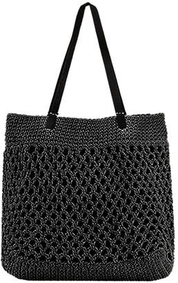 Mary And Marie Pty Ltd The Santorini Black Crochet Tote