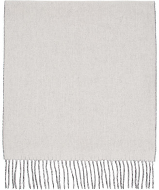 Won Hundred Reversible Off-White and Grey Wool Vanessa Double Scarf