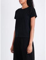 Noir Kei Ninomiya Braided-insert cotton T-shirt