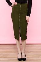 Ark & Co Green Midi Skirt