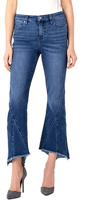Liverpool Crop Flare Patched Hem in Antelope (Antelope) Women's Jeans