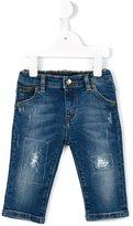 Dolce & Gabbana ripped detail jeans - kids - Cotton/Spandex/Elastane - 3-6 mth