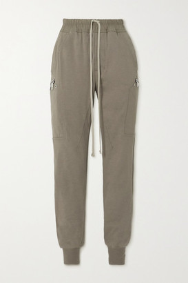 Rick Owens Stretch-cotton Jersey Track Pants - Light gray