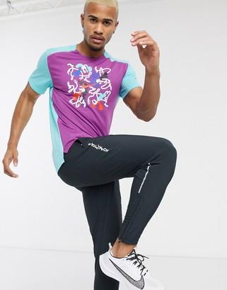 Nike Running Tokyo Rise 365 t-shirt in purple