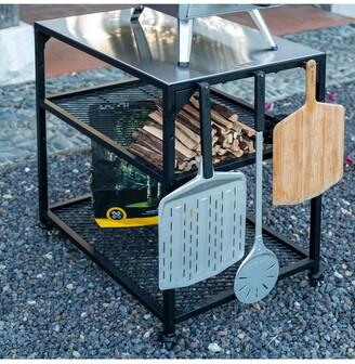Ooni Medium Modular Outdoor Kitchen Table/BBQ Trolley, Black