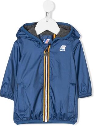 K Way Kids Jacques logo patch hooded jacket