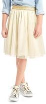 Shimmer waist tulle skirt