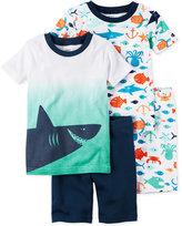 Carter's 4-Pc. Shark Cotton Pajama Set, Toddler Boys (2T-5T)